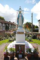 Religious Statue of Virgin Mary in a housing estate at Monkstown Farm, Dublin Ireland