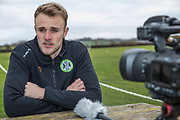 Lewis Ward signs a contract with Forest Green Rovers at Stanley Park, Chippenham, United Kingdom on 14 January 2019.