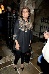 """PINKY LILANI  at a private view to view """"The Coronation Theatre: Portrait of Her Majesty Queen Elizabeth II"""" painted by Ralph Heimans held at Westminster Abbey, London on 12th September 2013."""