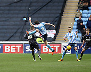 Coventry City Midfielder Romain Vincelot challenges for the ball during the Sky Bet League 1 match between Coventry City and Bury at the Ricoh Arena, Coventry, England on 13 February 2016. Photo by Chris Wynne.