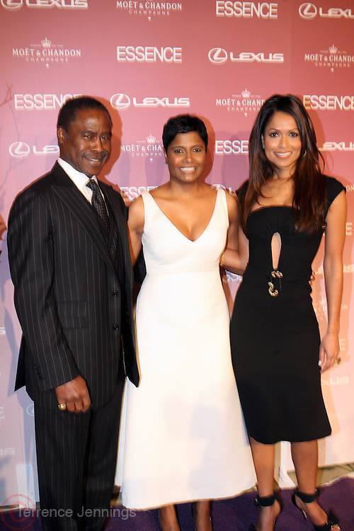 Ed Lewis and Angela Burt-Murray and Tracy Edmonds at The Essence Magazine Celebrates Black Women in Hollywood Luncheon Honoring Ruby Dee, Jada Pickett Smith, Susan De Passe & Jurnee Smollett at the Beverly Hills Hotel on February 21, 2008 in Beverly Hills, CA