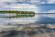 Yellowstone Lake in Yellowstone National Park, Wyoming.