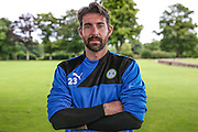 Forest Green Rovers goalkeeper Sam Russell during the Forest Green Rovers Training at the Cirencester Agricultural College, Cirencester, United Kingdom on 12 July 2016. Photo by Shane Healey.