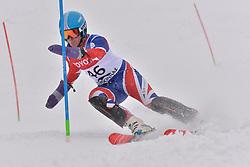 WHITLEY James LW5/7-3 GBR at 2018 World Para Alpine Skiing World Cup slalom, Veysonnaz, Switzerland