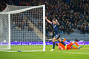John McGinn (#8) of Scotland scores his second goal during the UEFA European 2020 Group I qualifier match between Scotland and Kazakhstan at Hampden Park, Glasgow, United Kingdom on 19 November 2019.