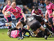 Picture by Steven Hadlow/Focus Images Micky Ward of Newcastle Falcons and Martyn Williams of Cardiff Blues during their Amlin Challenge Cup quarter-final match