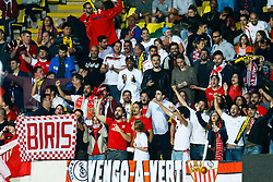 Sevilla fans celebrate Vitolo of Sevilla goal, Sevilla1-0 Watford - Mandatory by-line: Jason Brown/JMP - Mobile 07966 386802 31/07/2015 - SPORT - FOOTBALL - Watford, Vicarage Road - Watford v Sevilla - Pre-Season Friendly