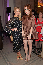 Left to right, MOLLIE KING and ANGELA SCANLON at a VIP preview of the V&A's new exhibition 'The Glamour of Italian Fashion' - a comprehensive look at Italian Fashion from 1945-2014 held at The Victoria & Albert Museum, London on 2nd April 2014.