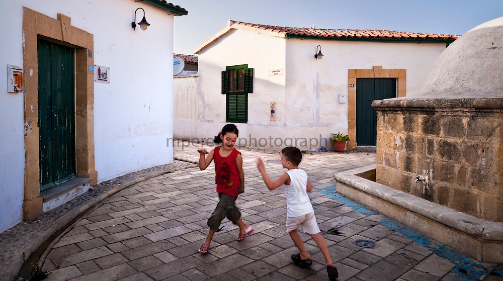 Childrens playing in Lefkosa North