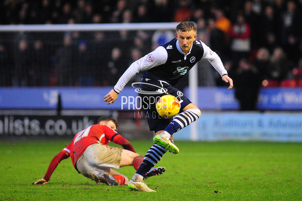Byron Webster of Millwall FC during the Sky Bet League 1 match between Walsall and Millwall at the Banks's Stadium, Walsall, England on 6 February 2016. Photo by Mike Sheridan.