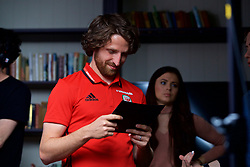CARDIFF, WALES - Wednesday, June 7, 2017: Wales' Joe Allen during a photoshoot for Vauxhall at the Vale Resort. (Pic by David Rawcliffe/Propaganda)