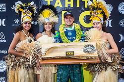 Gabriel Medina (BRA) Winner of the Tahiti Pro 2018 ,Teahupoo, French Polynesia