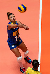 29-05-2019 NED: Volleyball Nations League Poland - Brazil, Apeldoorn<br /> Leia Henrique Da Silva Nicolosi #19 of Brazil