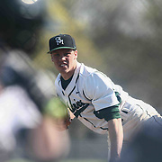 St. Marks Pitcher Andrew Reich (6) throws a strike during a regular season baseball game between the St. Marks Spartans and Caravel Academy at St. Marks Stadium Thursday April 14, 2016 in Wilmington.
