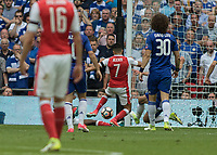 Football - 2017 FA Cup Final - Arsenal vs. Chelsea<br /> <br /> Gary Cahill of Chelsea dives in to prevent Alexis Sanchez of Arsenal increasing his teams lead at Wembley.<br /> <br /> COLORSPORT/DANIEL BEARHAM