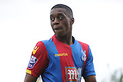 Aaron Bissaka looks back at play during the U21 Professional Development League match between Crystal Palace U21s and Huddersfield U21s at Imperial Fields, Tooting, United Kingdom on 7 September 2015. Photo by Michael Hulf.