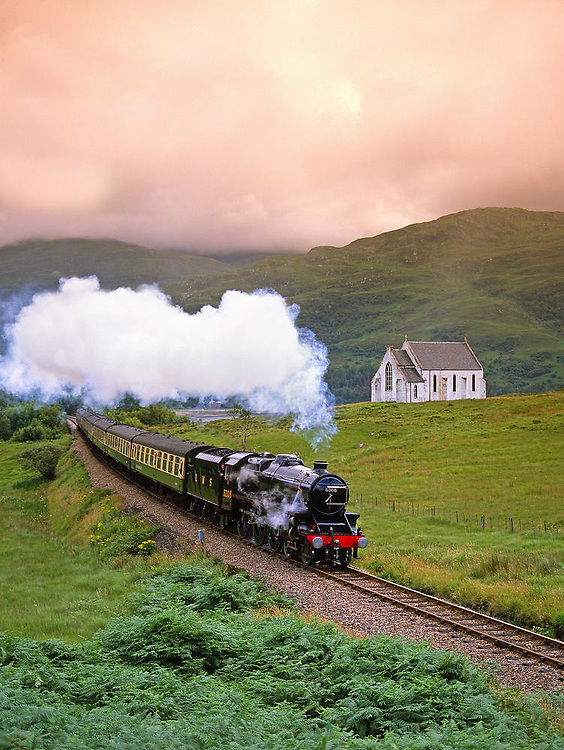 Black 5 Sream Train , Lochailort, West Highland line.