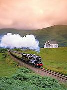 Black 5 Sream Train , Lochailort, West Highland line.