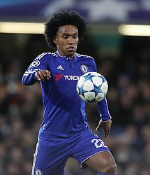 Willian of Chelsea - Mandatory byline: Paul Terry/JMP - 09/12/2015 - Football - Stamford Bridge - London, England - Chelsea v FC Porto - Champions League - Group G