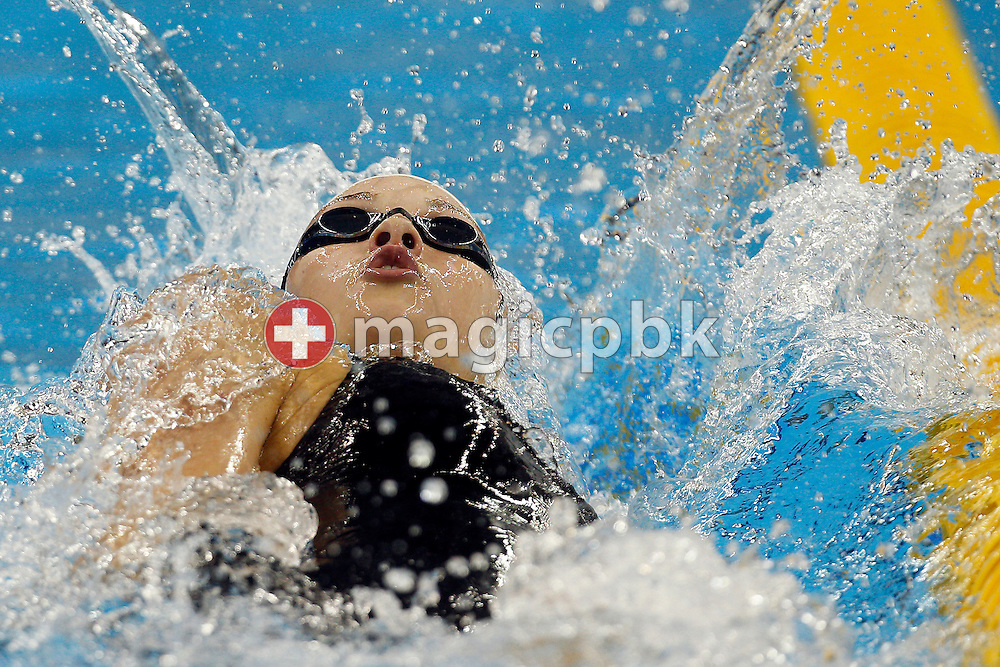 Mie Ostergaard NIELSEN of Denmark swims the backstroke leg in the women's 4x100m Medley Relay Heats during the 14th FINA World Aquatics Championships at the Oriental Sports Center in Shanghai, China, Saturday, July 30, 2011. (Photo by Patrick B. Kraemer / MAGICPBK)