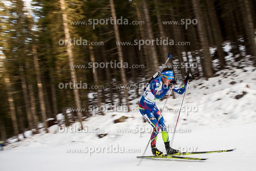 Quentin Fillon Maillet (FRA) during Men 10 km Sprint at day 1 of IBU Biathlon World Cup 2015/16 Pokljuka, on December 17, 2015 in Rudno polje, Pokljuka, Slovenia. Photo by Urban Urbanc / Sportida