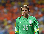 Tim Krul of Netherlands during the 2014 FIFA World Cup match against Costa Rica at the Itaipava Arena Fonte Nova, Nazare, Bahia<br /> Picture by Stefano Gnech/Focus Images Ltd +39 333 1641678<br /> 05/07/2014