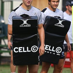 DURBAN, SOUTH AFRICA Monday 31st August  2015 - Etienne Oosthuizen during the Cell C Sharks training session at Growthpoint Kings Park in Durban, South Africa. (Photo by Steve Haag)