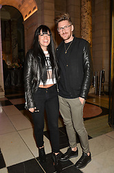 LILLY ALLEN and HENRY HOLLAND at a VIP preview of the V&A's new exhibition 'The Glamour of Italian Fashion' - a comprehensive look at Italian Fashion from 1945-2014 held at The Victoria & Albert Museum, London on 2nd April 2014.