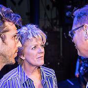 NLD/Hoorn/20170912 - fotomoment castleden Was Getekend, Annie M.G. Schmidt, Simone Kleinsma en William Spaaij in gesprek met Albert Verlinde