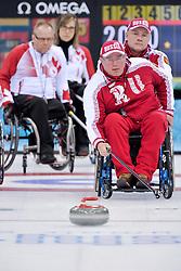 Andrey Smirnov, Alexander Shevchenko, Dennis Thiessen, Sonja Gaudet, Wheelchair Curling Finals at the 2014 Sochi Winter Paralympic Games, Russia