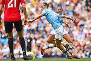 Manchester City Women midfielder Jill Scott (8) during the FA Women's Super League match between Manchester City Women and Manchester United Women at the Sport City Academy Stadium, Manchester, United Kingdom on 7 September 2019.