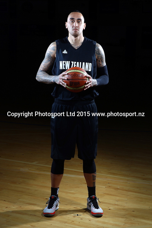 Leon Henry, Tall Blacks, New Zealand national basketball team profile shots. Breakers Gym, Auckland. 17 July 2015. Copyright Photo: William Booth / www.photosport.nz
