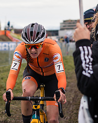 BRAND Lucinda (NED) during Women Elite race, 2020 UCI Cyclo-cross Worlds Dübendorf, Switzerland, 1 February 2020. Photo by Pim Nijland / Peloton Photos | All photos usage must carry mandatory copyright credit (Peloton Photos | Pim Nijland)