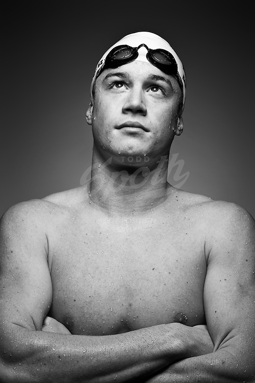 All Greater Houston swimmer of the year, Matt Barber, a senior at Kingwood High School, poses for a portrait, Monday, April 19, 2010 at Kingwood High School in Kingwood, Texas. (Todd Spoth/Houston Chronicle)