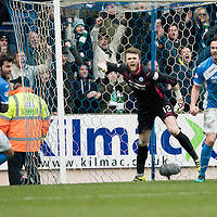 St Johnstone v Celtic…05.02.17     SPFL    McDiarmid Park<br />Richie Foster, Zander Clark and Keith Watson go nuts as Moussa Dembele scores from the penalty spot<br />Picture by Graeme Hart.<br />Copyright Perthshire Picture Agency<br />Tel: 01738 623350  Mobile: 07990 594431