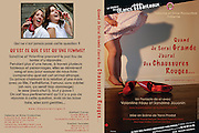 "DVD's cover of the theatre play ""QUAND JE SERAI GRANDE J'AURAI DES CHAUSSURES ROUGES"" ..Photos & Design : Capucine Bailly"