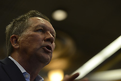 OH Gov. and Republican presidential candidate JOHN KASICH replies to questions from the audience at a March 16, 2016 town hall meeting at Villanova University in the suburbs of Philadelphia, PA., USA.