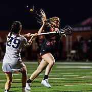 23 March 2018: San Diego State Aztecs midfielder Bailey Brown takes a shot on goal in the first half. The Aztecs beat the Lady Flames 11-10 Friday night. <br /> More game action at sdsuaztecphotos.com