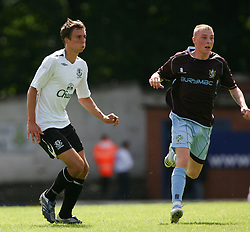 Bury, England - Saturday, July 7, 2007: Everton's Lukas Jutkiewicz in action against Bury during a pre-season friendly at Gigg Lane. (Photo by Dave Kendall/Propaganda)