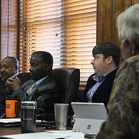 RAY VAN DUSEN/BUY AT PHOTOS.MONROECOUNTYJOURNAL.COM<br /> The Monroe County Board of Supervisors discusses the need for more lean spending through the county's departments due to a TVA funding shortfall the county will experience this fiscal year.