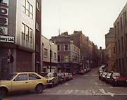 Old Dublin Amature Photos December 1983 WITH, Four Courts, North Quays, Parlement St, Gratton Bridge, Sea Horse, Lantern, Lampost, Chancery Inn, st, Arron Quay, Church, South Quays, Nashs, opel kadett, car, fiat ritmo, renault, 12,