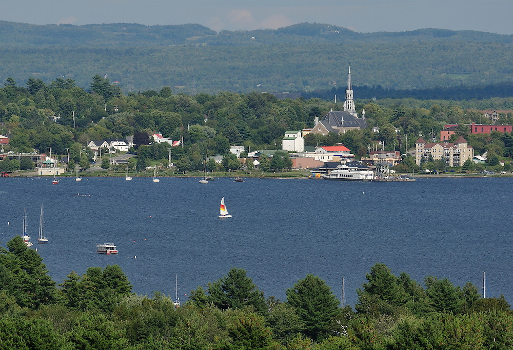 Magog,Lac Memphremagog, Eastern Townships, Quebec, Canada,