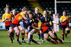 Carys Cox of Worcester Warriors Women is tackled - Mandatory by-line: Robbie Stephenson/JMP - 11/01/2020 - RUGBY - Sixways Stadium - Worcester, England - Worcester Warriors Women v Richmond Women - Tyrrells Premier 15s