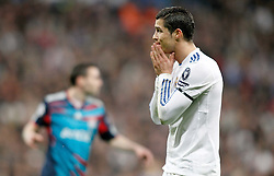 16.03.2011, Stadio Santiago di Bernabeu, Madrid, ESP, UEFA CL, Real Madrid vs Olympique de Lyon, im Bild Real Madrid's Cristiano Ronaldo dejected during Champions League match. March 16, 2011. . EXPA Pictures © 2011, PhotoCredit: EXPA/ Alterphotos/ Alvaro Hernandez +++++ ATTENTION - OUT OF SPAIN / ESP +++++