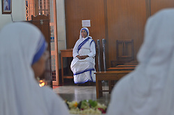 August 26, 2017 - Kolkata, West Bengal, India - People of Kolkata pay their homage to Mother Teresa 107 years birth anniversary in Mother House Kolkata on 26-8-2017 (Credit Image: © Sandip Saha/Pacific Press via ZUMA Wire)