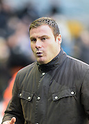 Bury manager David Flitcroft during the Sky Bet League 1 match between Millwall and Bury at The Den, London, England on 28 November 2015. Photo by David Charbit.