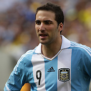 Gonzalo Higuain, Argentina, during the Brazil V Argentina International Football Friendly match at MetLife Stadium, East Rutherford, New Jersey, USA. 9th June 2012. Photo Tim Clayton