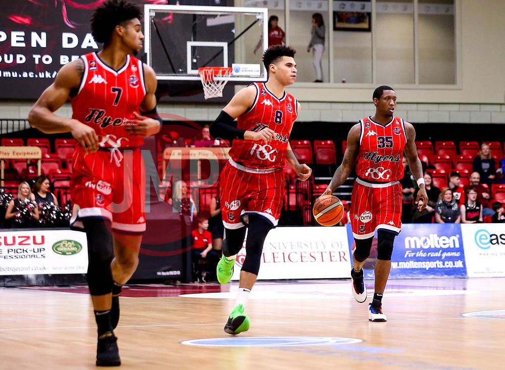 Fred Thomas of Bristol Flyers ru s with the ball - Photo mandatory by-line: Robbie Stephenson/JMP - 11/01/2019 - BASKETBALL - Leicester Sports Arena - Leicester, England - Leicester Riders v Bristol Flyers - British Basketball League Championship
