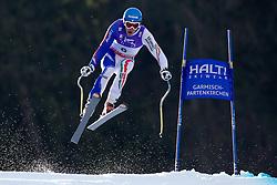 12-02-2011 SKIEN: FIS ALPINE WORLD CHAMPIONSSHIP: GARMISCH PARTENKIRCHEN<br /> Christof Innerhofer (ITA) takes to the air competing in the men's downhill race on the Kandahar race piste<br /> **NETHERLANDS ONLY**<br /> ©2011-WWW.FOTOHOOGENDOORN.NL/EXPA/ Michel Gunn