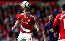Marten de Roon of Middlesbrough heads the ball - Mandatory by-line: Robbie Stephenson/JMP - 19/03/2017 - FOOTBALL - Riverside Stadium - Middlesbrough, England - Middlesbrough v Manchester United - Premier League